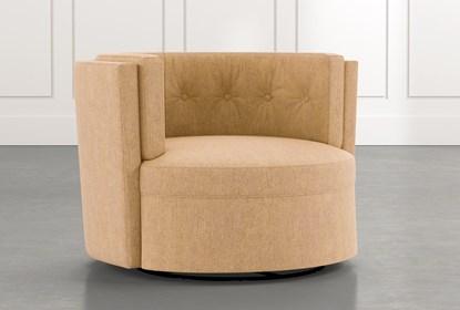 Aidan II Yellow Swivel Accent Chair | Living Spac