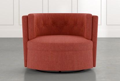 Aidan II Red Swivel Accent Chair | Living Spac