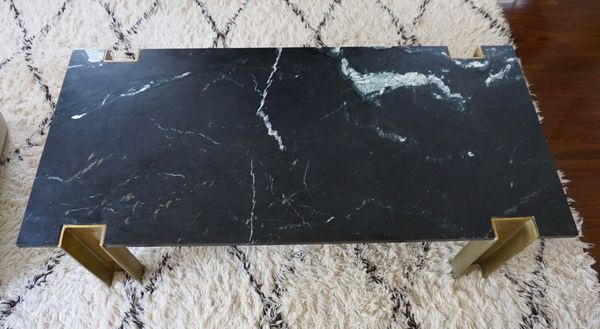 CB2 Alcide Marble Coffee Table for Sale in Seal Beach, CA - Offer