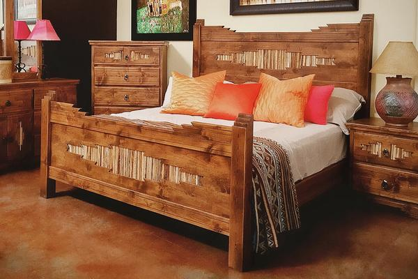 Custom Made Sahuaro Alder Bed – La Casona Custom Furnitu