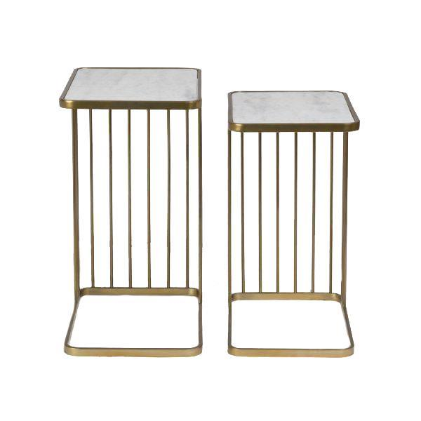 Alder & Tweed Brass Retro Nesting Tables S/2 | Shop Vanillawo