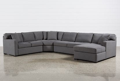 Alder Foam 4 Piece Sectional W/Right Arm Facing Chaise | Living Spac