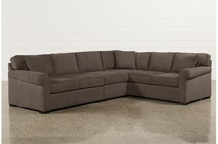 Alder Foam 4 Piece Sectional Sofa with Right Arm Facing Chaise .
