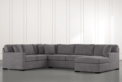 Alder Foam 3 Piece Sectional With Right Arm Facing Chaise | Living .