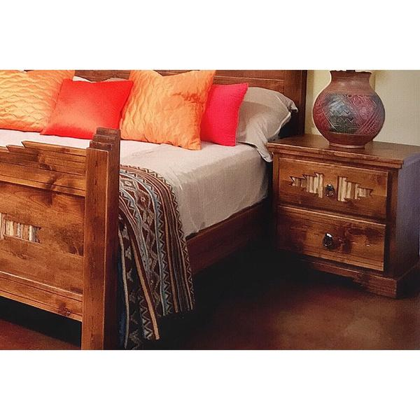 Alder Wood Nightstand Sahuaro – La Casona Custom Furnitu