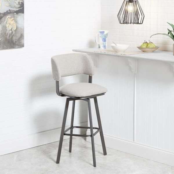 Silverwood Furniture Reimagined Adler 29 in. Beige Open Wrap Back .