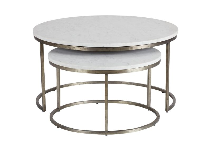 Bayless Marble-Top Coffee Table | Nesting Table | Ethan All