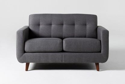 Allie Dark Grey Twin Plus Sleeper Sofa | Living Spac