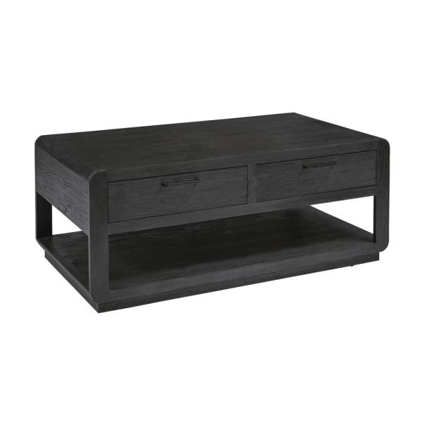 Progressive Furniture 19 in. Allure II Black Cocktail Table T770 .