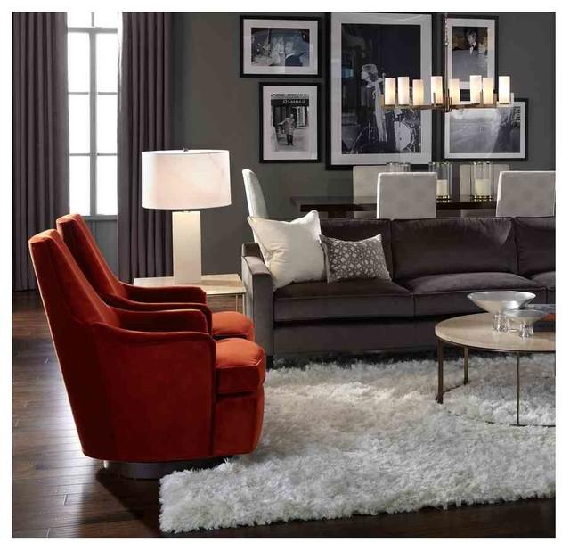 Daphne Swivels & Allure Cocktail Table - Modern - Living Room .