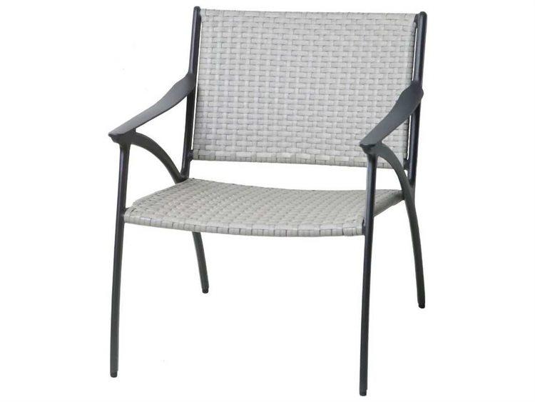 Gensun Amari Woven Aluminum Carbon Lounge Chair | GES702500
