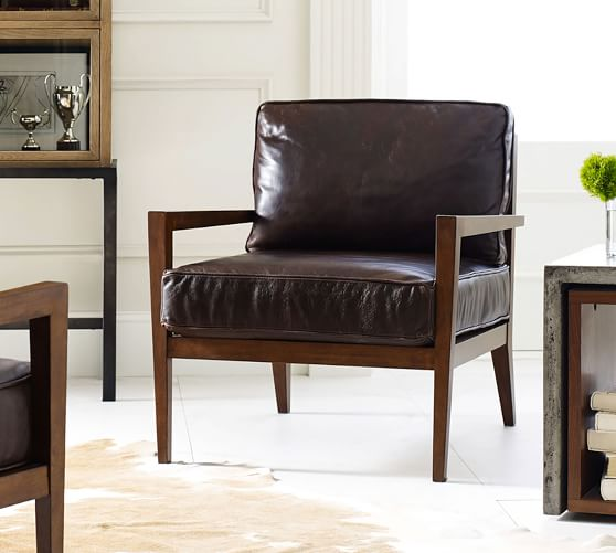 Andrew Leather Armchair | Pottery Ba