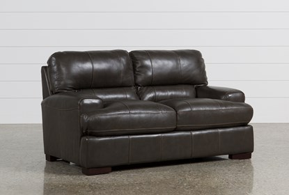 Andrew Leather Loveseat | Living Spac