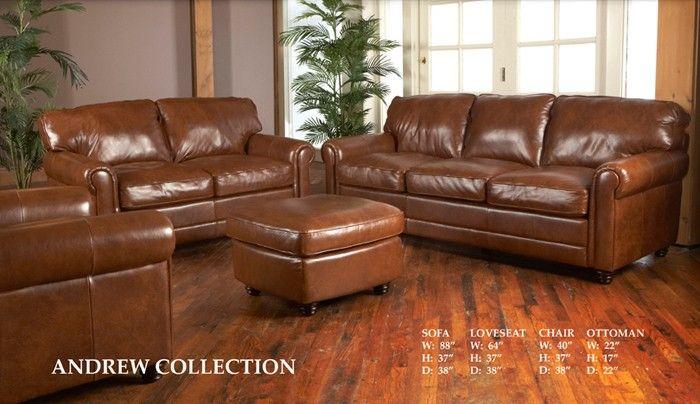 Andrew Havana All Leather Sofa | Sofa set, Leather sofa set .
