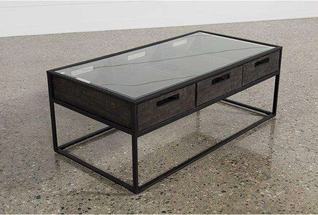 Anson Coffee Table | Coffee table grey, Steel coffee table, Coffee .