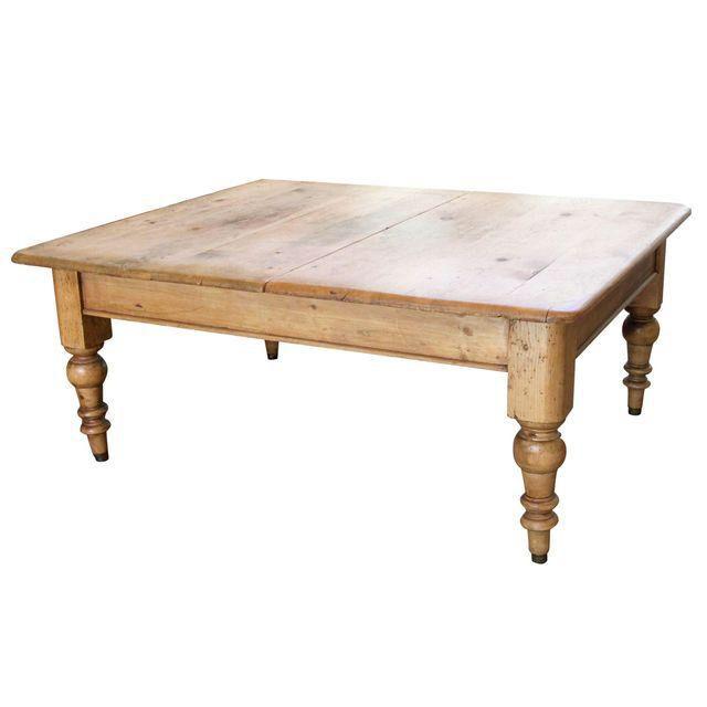 Antique Pine Farmhouse Coffee Table on Chairish.com | Coffee table .
