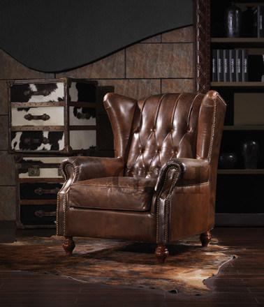 China New Classical European American Leather Sofa Chair Furniture .