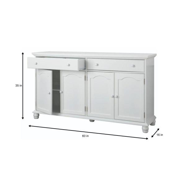 Home Decorators Collection Harwick Antique White Buffet BF-23034 .