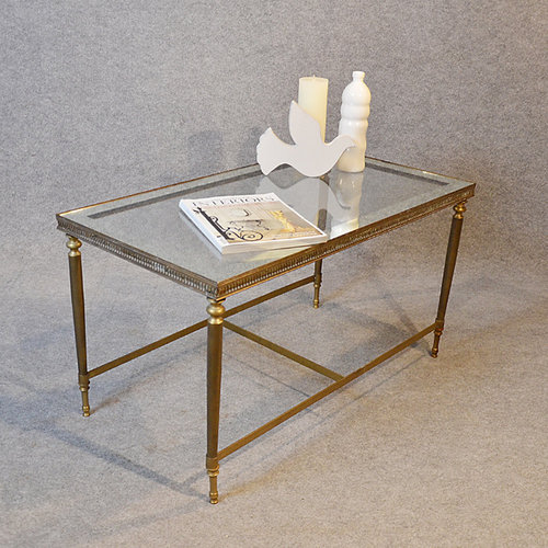 Antiques Atlas - Coffee Table Art Deco Brass Glass T