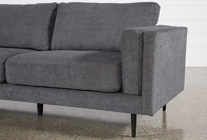 Aquarius II Dark Grey 2 Pc Sectional With Left Arm Facing Chaise .