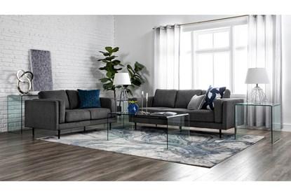 Aquarius II Dark Grey Sofa   Living Spac