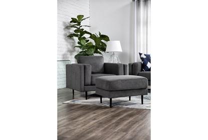 Aquarius II Dark Grey Chair   Living Spac