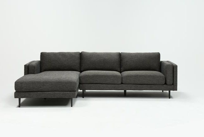 Aquarius Dark Grey 2 Piece Sectional W/Laf Chaise   Living Spaces .