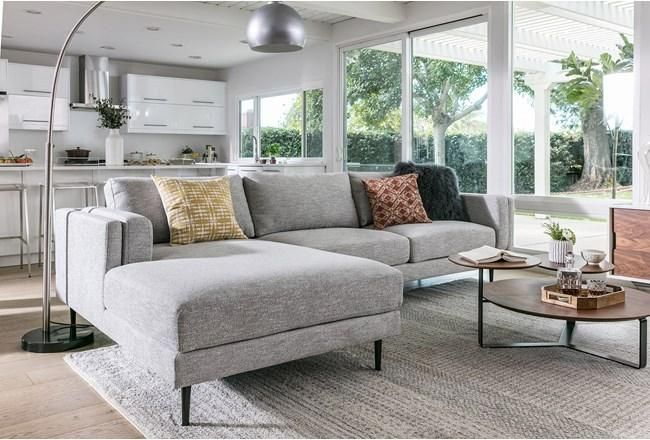 Aquarius Light Grey 2 Piece Sectional W/Laf Chaise - 360   Living .