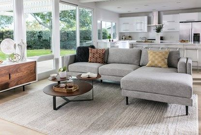 Aquarius Light Grey 2 Piece Sectional W/Raf Chaise - Room (With .