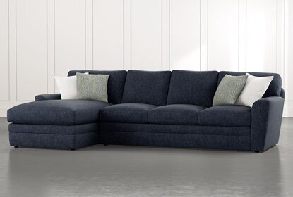 Prestige Foam 2 Piece Sectional With Left Arm Facing Chaise .