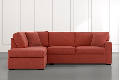 Aspen Red 2 Piece Sectional with Left Arm Facing Chaise | Living .