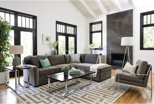 Aspen 2 Piece Sectional W/Raf Chaise - 360 | Transitional living .