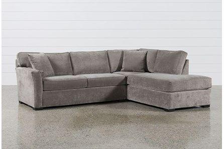 Aspen 2 Piece Sleeper Sectional W/Raf Chaise | Sleeper sectional .
