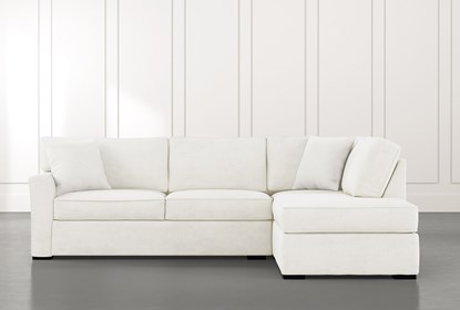 Aspen White 2 Piece Sectional with Right Arm Facing Chaise .
