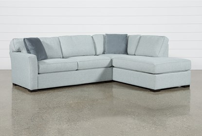Aspen Tranquil Foam 2 Piece Sleeper Sectional With Right Arm .