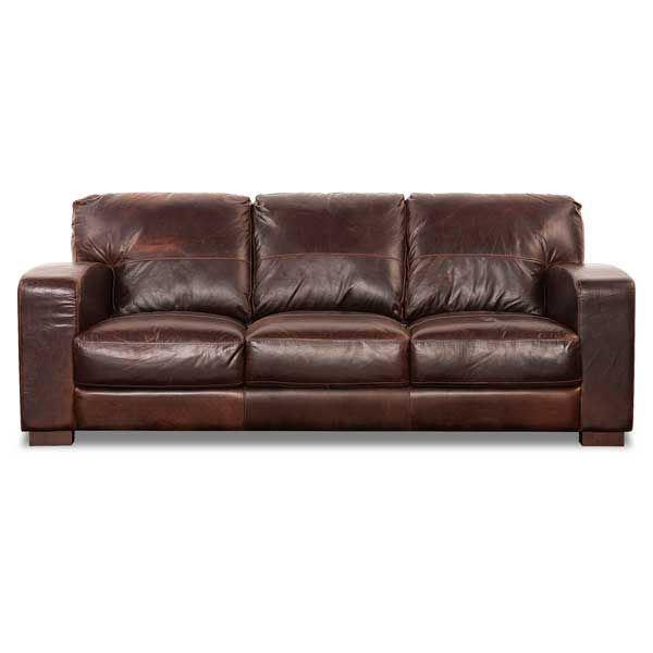 Aspen All Leather Sofa 4442S ASPEN SADDLE 40002 | Soft Line | AFW.c