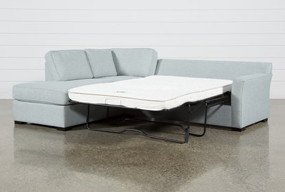 Aspen Tranquil Foam 2 Piece Sleeper Sectional With Left Arm Facing .
