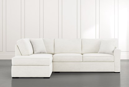 Aspen White 2 Piece Sectional with Left Arm Facing Chaise | Living .