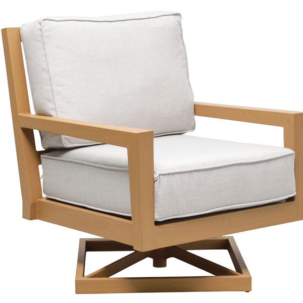 Seasonal Concepts | Aspen Swivel Lounge Chair by Patio Renaissance .