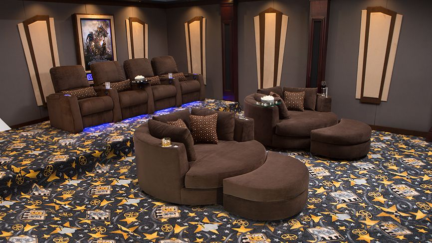 Swivel Cuddle Chair Complete Theater Design | Home theater seating .