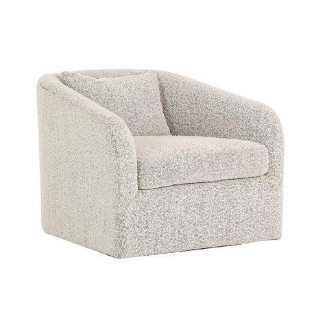 Boucle Aspen Swivel Chair – Black Rooster Decor | Oversized chair .