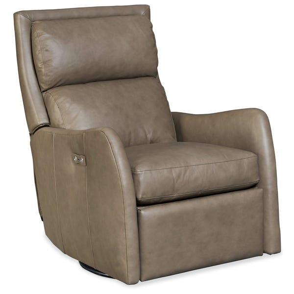 Shop Aspen Lenado Leather Power Swivel Recliner Chair - On Sale .