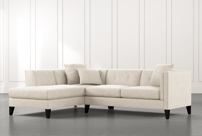 Avery II Beige 2 Piece Sectional with Left Arm Facing Armless .
