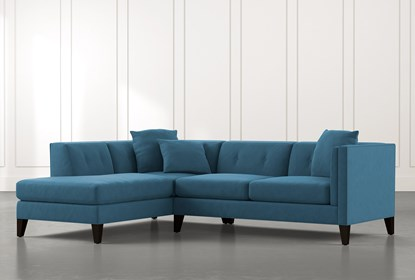 Avery II Teal 2 Piece Sectional with Left Arm Facing Armless .