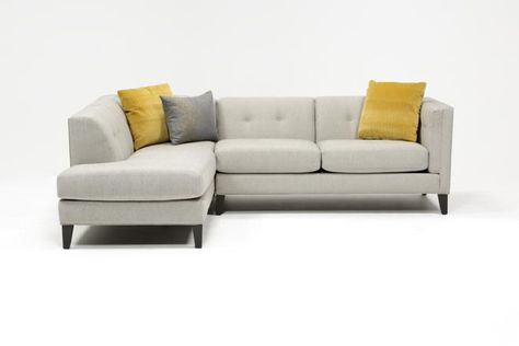 Avery 2 Piece Sectional W/Laf Armless Chaise   Furniture, Living .
