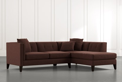 Avery II Brown 2 Piece Sectional with Right Arm Facing Armless .