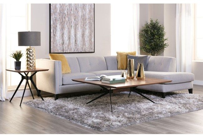 Avery 2 Piece Sectional W/Raf Armless Chaise - 360 | Gold living .