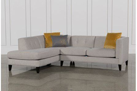 Avery 2 Piece Sectional W/Laf Armless Chaise | Small sectional so