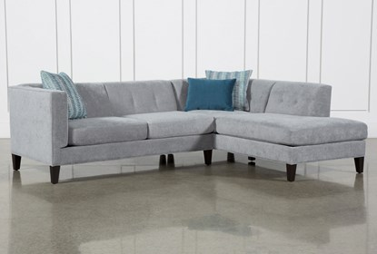 Avery II 2 Piece Sectional With Right Facing Armless Chaise .