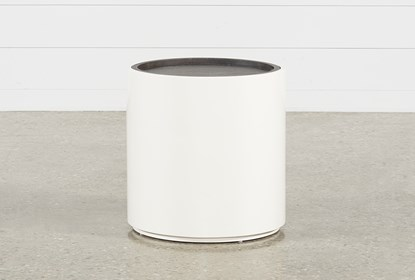 Bale Rustic Grey Round End Table | Living Spac